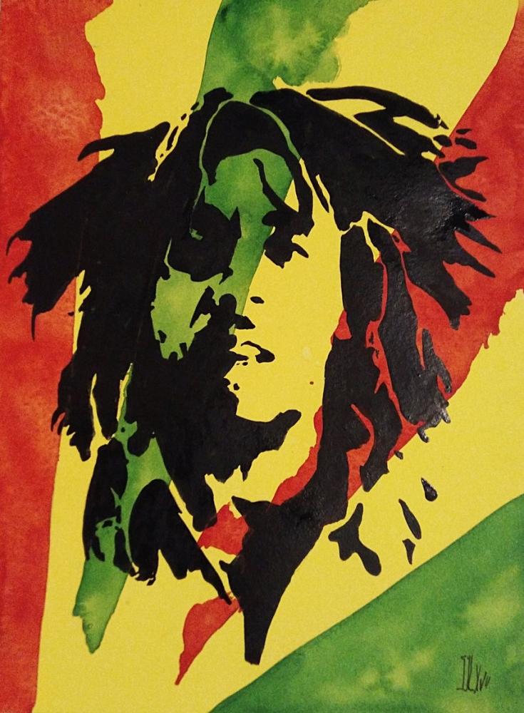Bob Marley by aquarelle-autrement